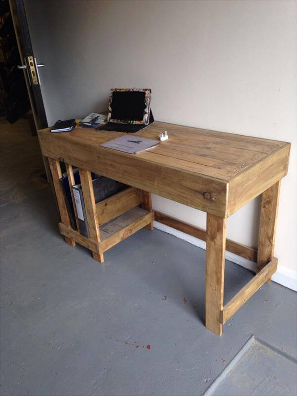 ... desk wooden pallet laptop riser diy wooden pallet computer desk diy
