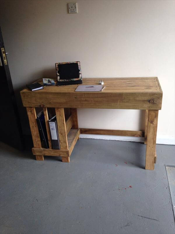 Tiered Pallet Wood Metal Desk 101 Pallets
