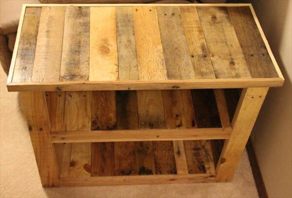 DIY Pallet Furniture Side Table 101 Pallets