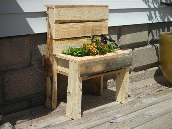Casters DIY Recycled Pallet Potting Bench DIY Pallet Double Garden ...