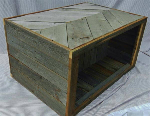 Chevron Pallet Coffee Table chevron pallet coffee table with storage | 101 pallets