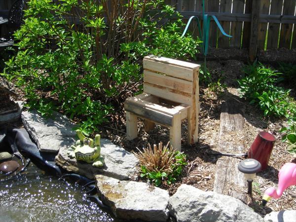 Pallet Wood Garden Bench Planter | 101 Pallets