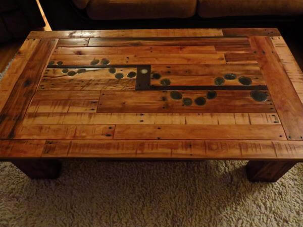 Lovely Recycled Pallet Coffee Table