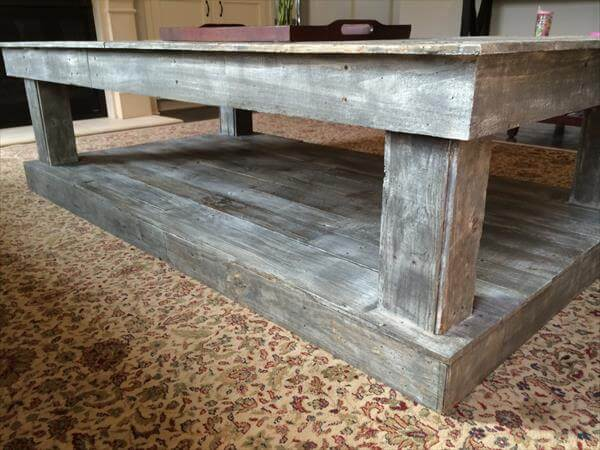 Handmade Pallet Distressed Coffee Table