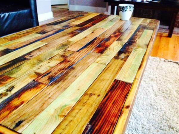 DIY Old Wooden Floor Inspired Coffee Table 101 Pallets