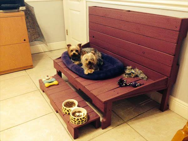 DIY Pallet Dog Bed Kids Sofa Bench 101 Pallets