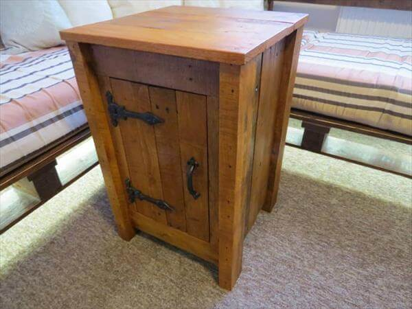 recycled pallet floor cabinet