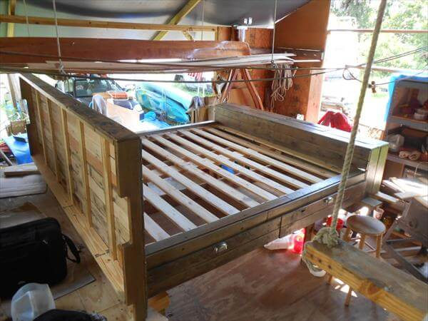 related posts diy pallet bed with storage drawers diy pallet bed frame ...