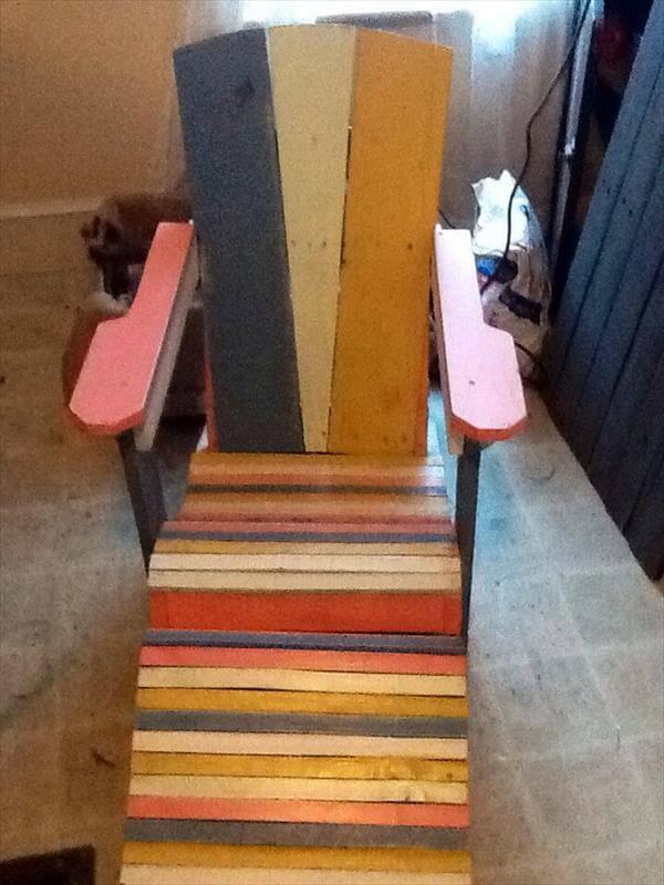 diy pallet kids adirondack chair