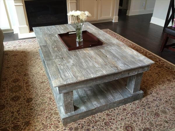 Pics photos pallet coffee table - Decoration avec des palettes ...