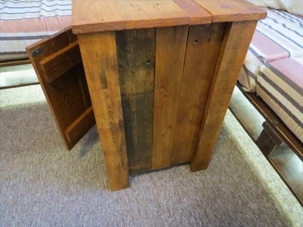 resurrected pallet floor cabinet