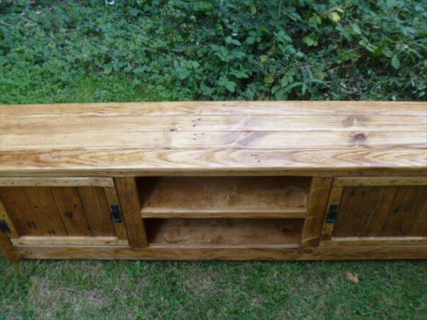 Resurrected Pallet Media Cabinet And TV Stand