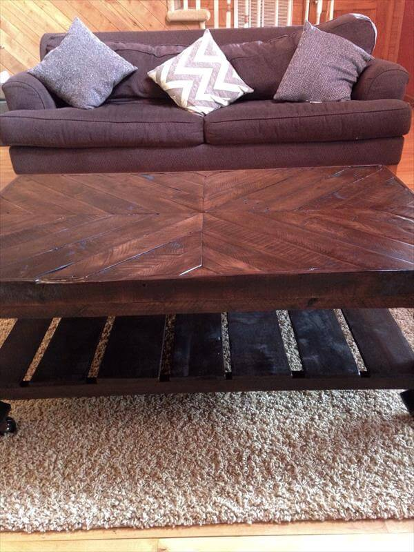 Rustic Chevron Pallet Coffee Table Pallets