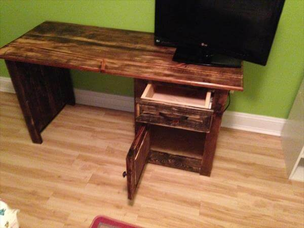 ... diy wooden pallet computer desk pallet office desk diy computer desk
