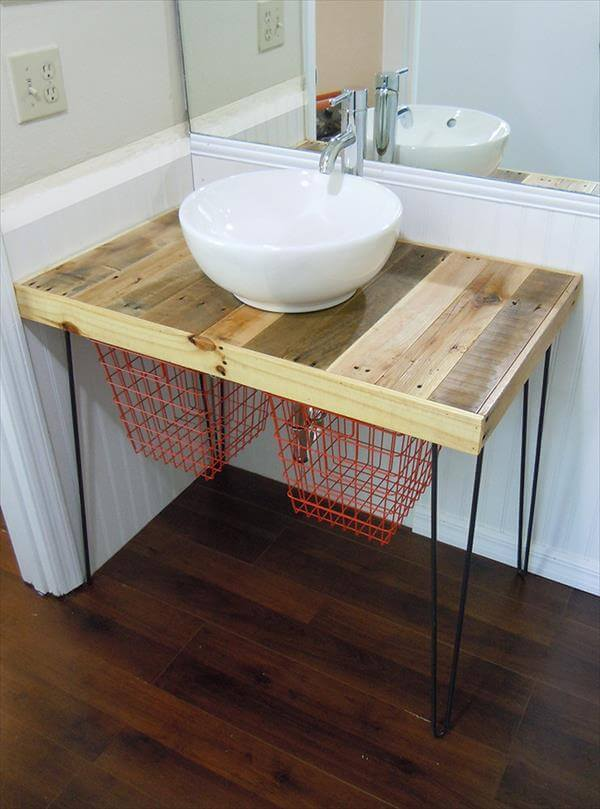 diy pallet wood vanity | 101 pallets