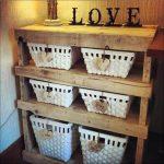 recycled pallet storage shelf