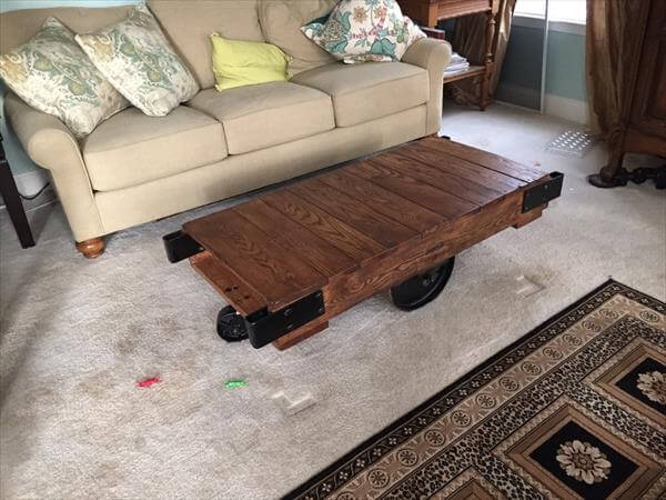 DIY Pallet Warehouse Cart And Coffee Table 101 Pallets