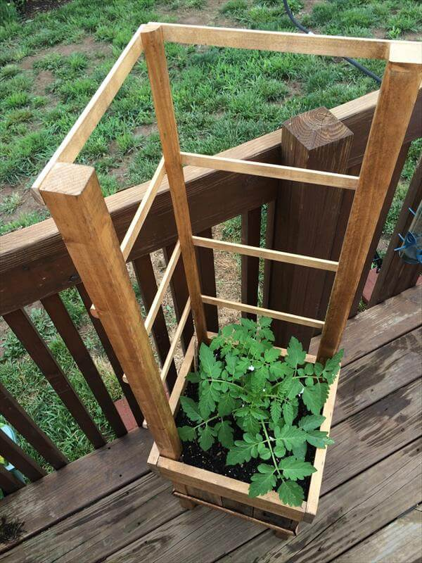 reused pallet raised planter