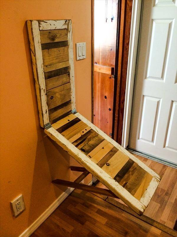 reclaimed pallet space saver desk - Space Saving Desk