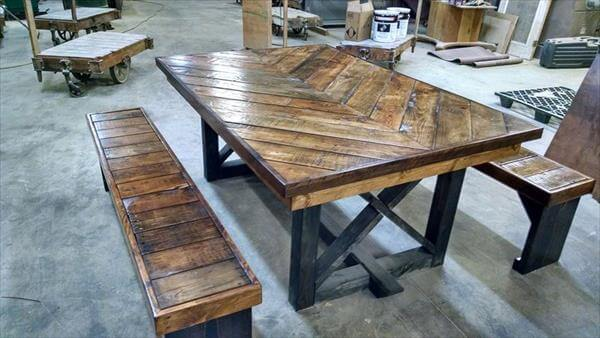 ... table rustic chevron pallet coffee table diy pallet media console and