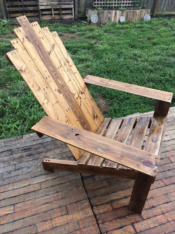 Wood Skull Lawn Chairs ~ Reclaimed pallet adirondack chair pallets