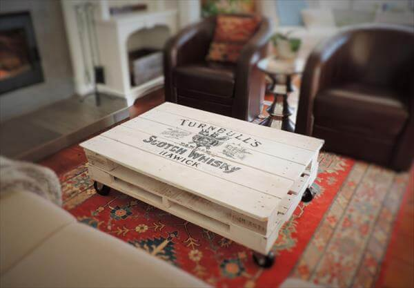 White Pallet Coffee Table white pallet coffee table design 20 diy pallet coffee table ideas