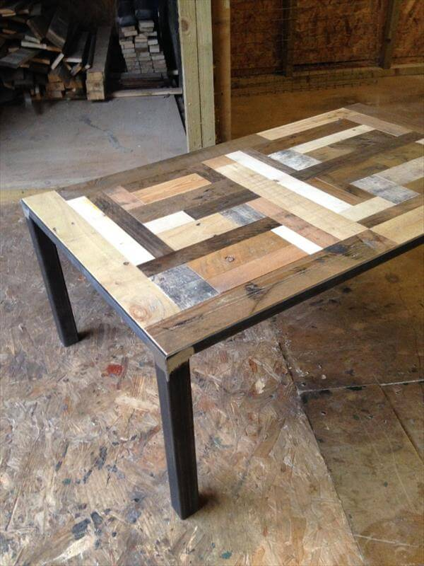 Diy Pallet Industrial Pallet Coffee Table 101 Pallets