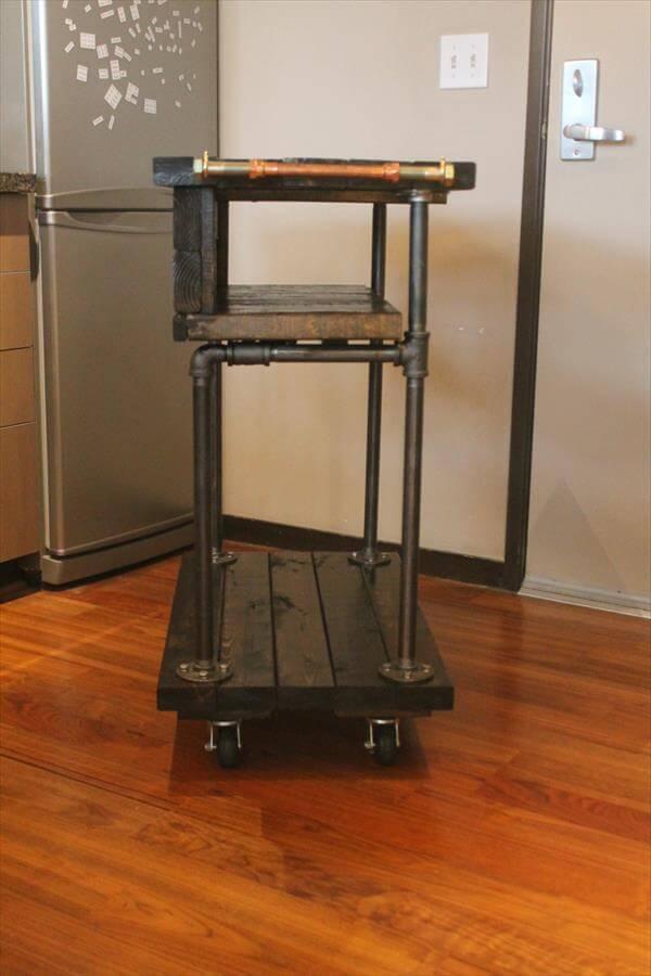 Pallet kitchen cart table design 101 pallets