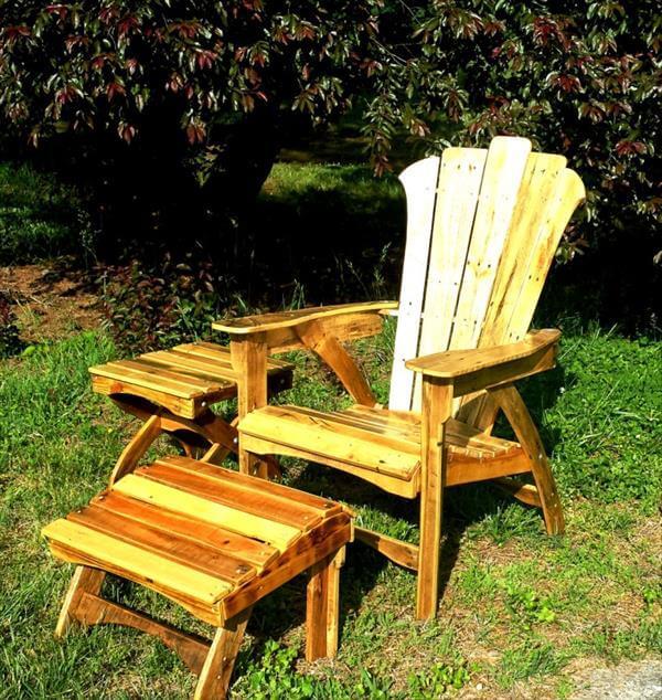 DIY Chic Pallet Adirondack Outdoor Furniture 101 Pallets