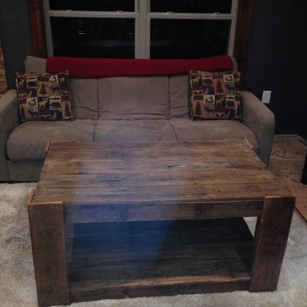 Related Posts Diy Wood Pallet Coffee Table Pallet Coffee Table With