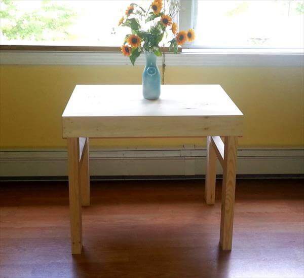 repurposed pallet end table and side table