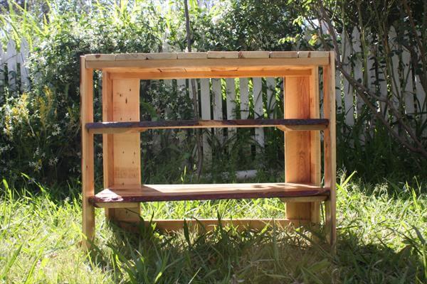 handmade pallet wood shoes rack