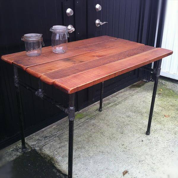Desk with Iron Pipe Base DIY Pallet Dining Table – Computer Desk