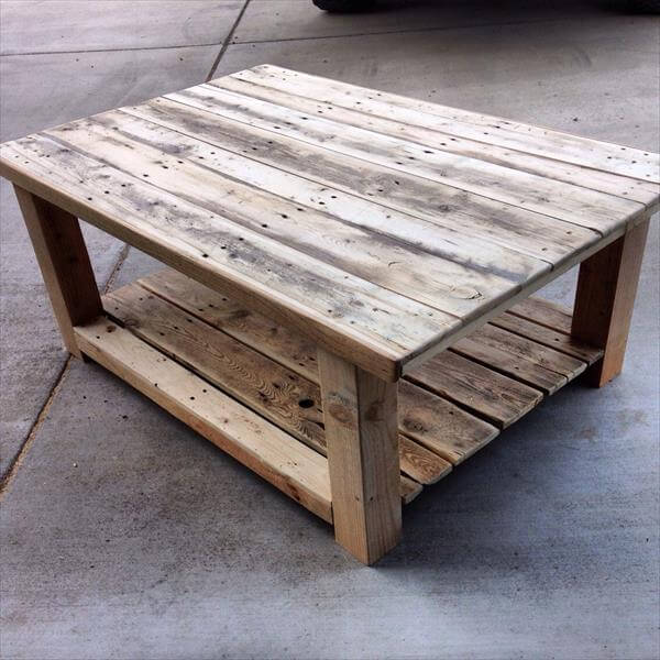 DIY Repurposed Pallet Wood Coffee Table 101 Pallets