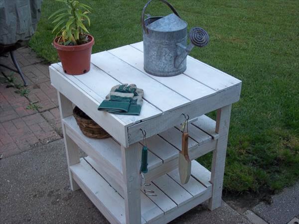 Pallet Garden Bench Round Top Pallet Dining Table for Garden DIY ...