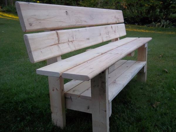 ... bench diy pallet chevron bench built to amaze diy large pallet garden