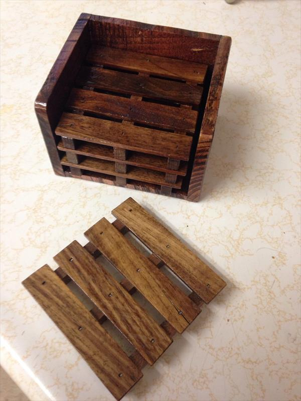 Diy Pallet Set Of 4 Coasters 101 Pallets