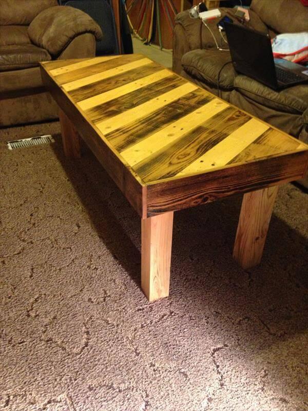 diy pallet handmade coffee table