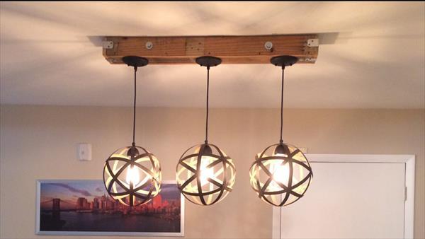 Diy pallet and mason jar light fixture 101 pallets - Diy ceiling light fixtures ...