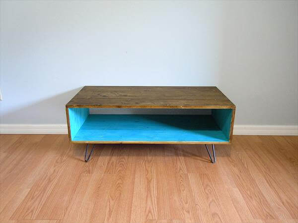Recycled Pallet Retro Styled Coffee Table