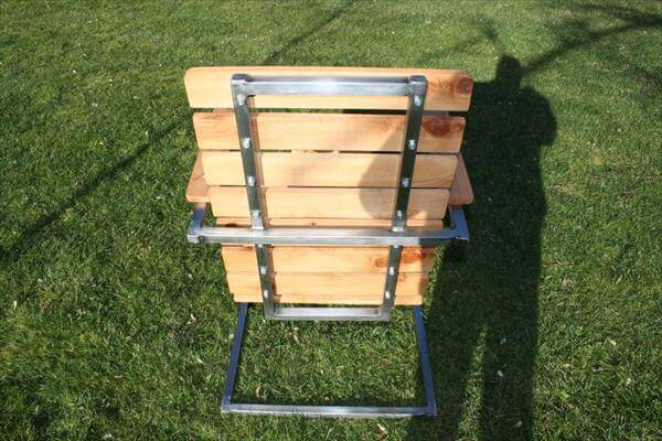 Sturdy Pallet And Steel Patio Chair
