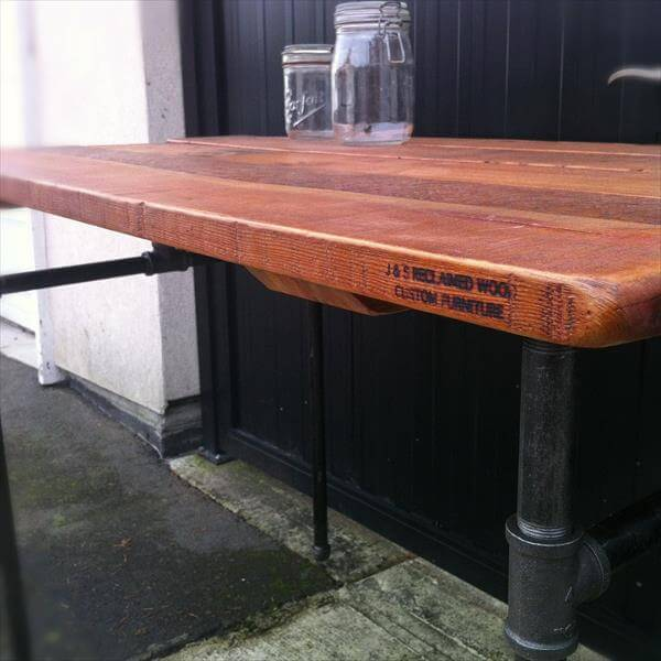 Diy Industrial Pallet Pipe Desk 101 Pallets
