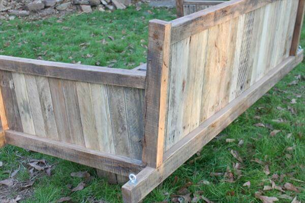 recycled pallet swing bed