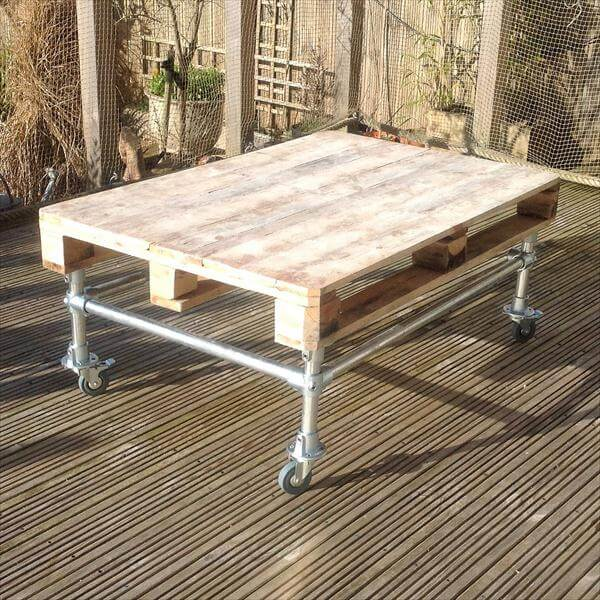 related posts diy pallet side table with metal pipe base diy pallet ...