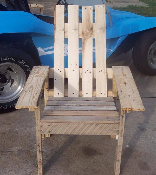 pallet adirondack chair reclaimed pallet adirondack chair diy pallet ...