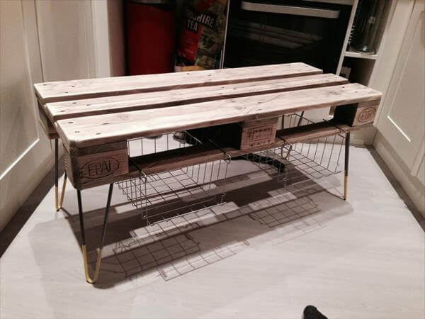 DIY Pallet Coffee Table And Media Stand 101 Pallets