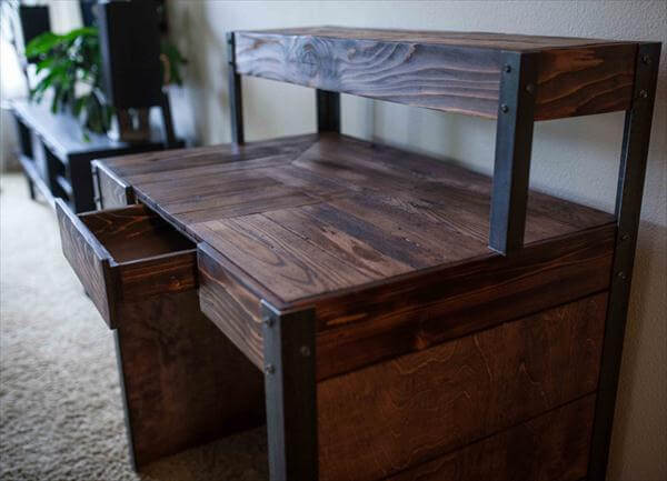 DIY Recycled Wood Pallet Desk