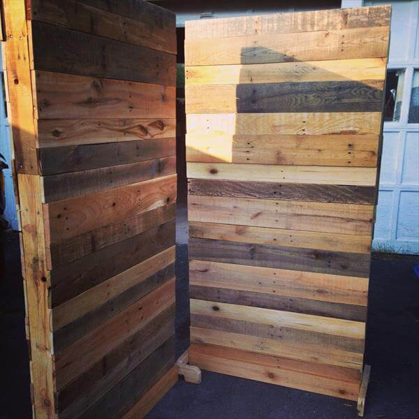 DIY Pallet Room Divider 101 Pallets