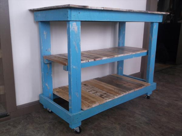 repurposed pallet 3 tiered kitchen island table
