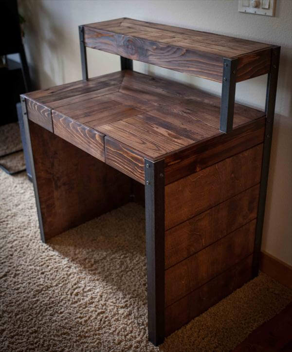 DIY Recycled Wood Pallet Desk 101 Pallets